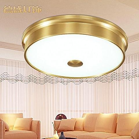 Zqww Ceiling lamp American Cu tutti i LED lampada da soffitto continental Living room Bedroom conformità con le lampade da terra ,CB0 12-3 in rame intrecciato - Ottone 3 Pollici Casa Numero