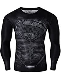 CT28 3D Druck Schwarz Fest Kompression Langarm-Shirt Grundschicht für Sport Fashion