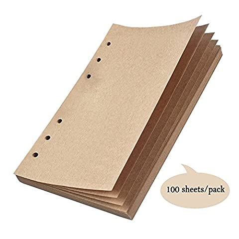 Refillable Craft Paper,Perfect for MALEDEN Premium PU Leather Classic Embossed Travel Journal Diary(80