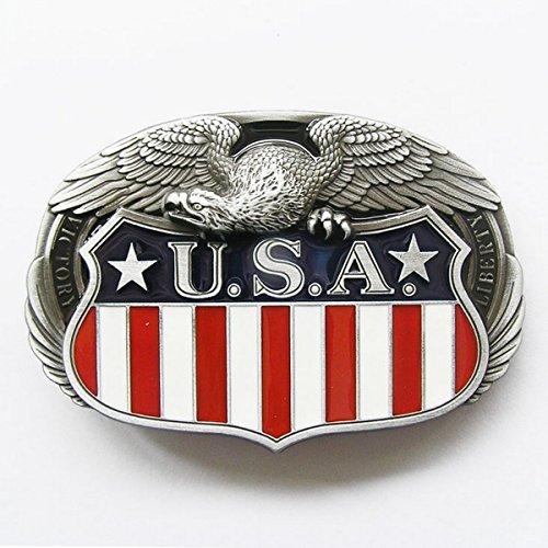 Buckle for US flag belt with custom eagle