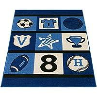 Tappeto Linea Bambino Disegno Football Soccer Baseball Basket L015