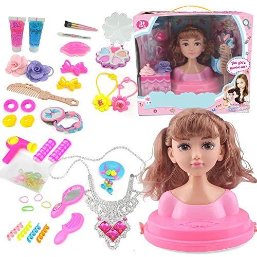 Ingeniously Make-up-Puppenset, 17-TLG. Princess Hair Styling Head Puppenset mit Schönheits- und Modeaccessoires