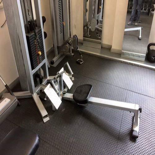 Robuster, großer Gummimatte Checker Plate Kommerzieller Bodenbelag 12mm Garage Gym Parkett Natur -
