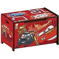 Preisvergleich für Delta Children's Products Disney Cars Toy Box Spielzeugkiste Lightning McQueen Holz Truhe für Spielzeug rot Auto