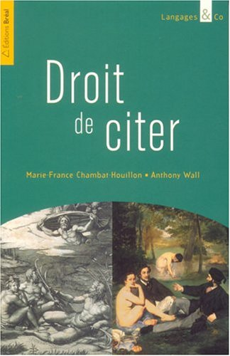 Droit de citer par Marie-France Chambat-Houillon