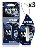 AREON Liquid Car Air Freshener New Car Smell Scent Perfume Hanging Pendant Long