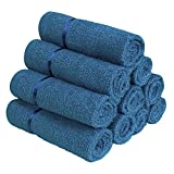#6: Story@Home Sensational Solid 10 Piece 450 GSM Cotton Face Towel Set - Navy Blue
