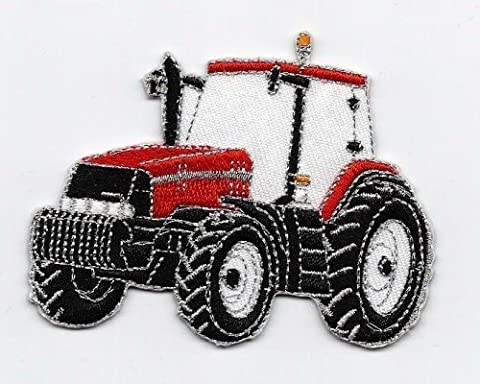 Sew-on Iron-on Embroidered Patch Red Tractor Badge