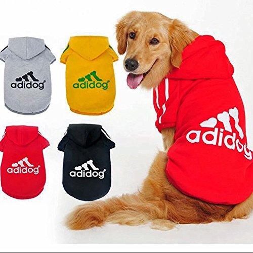 Ropa para perro Adidog, abrigos, sudaderas, camisetas, para mascotas cachorros, con diseño...