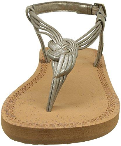 O'Neill - Fw Braided Ditsy Sandal, Scarpe da Spiaggia e Piscina Donna Grau (Metallic Champagne)