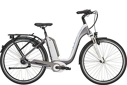 'Victoria e della Manifattura 7.9e di Bike e bici elettrica, Bicicletta elettrica 26Wave 49cm XS 400W batteria Bianco Platino Grigio modello 2017