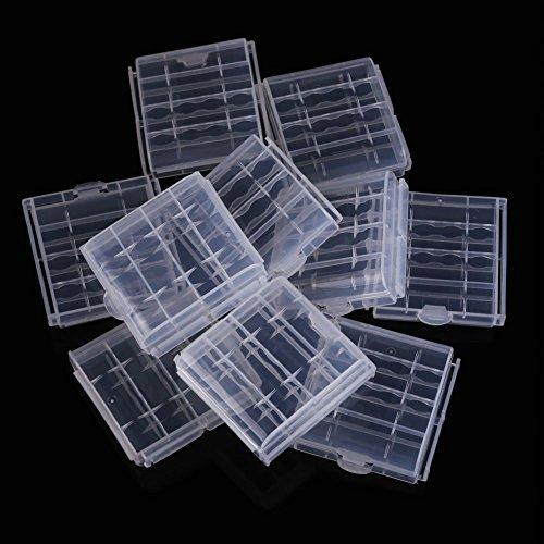 Batterie Halter - SODIAL(R)10 x Plastik Case Halter Aufbewahrungsbehaelter Abdeckung fuer wiederaufladbare AA AAA-Batterien