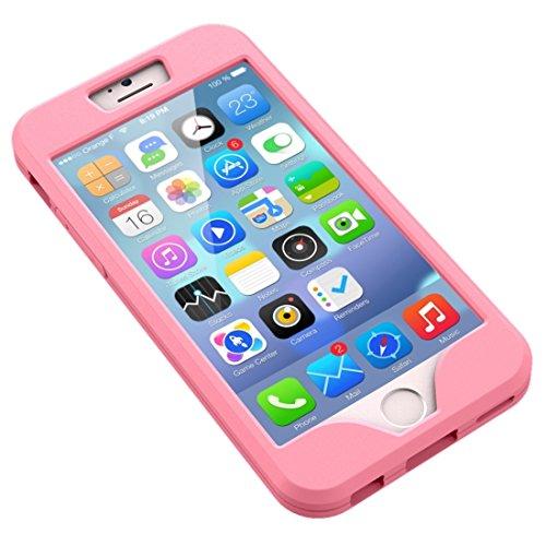 Wkae Case Cover 2 in 1 für iPhone 6 &6s Dual Control Sport Armband mit abnehmbaren Premium-Silikon-Kasten ( Color : Pink ) Pink