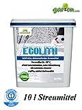 Ecolith, salzfreies, abstumpfendes Streumittel, 10 Liter