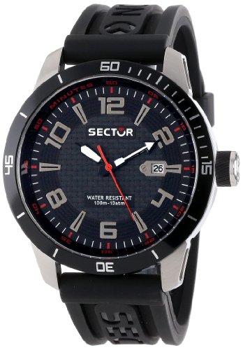 Sector R3251575002 - Reloj analógico de cuarzo para hombre con correa de goma, color negro