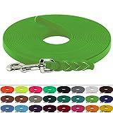 LENNIE BioThane Schleppleine 13 mm breit, 25 Farben/Apfelgrün, 1-30 Meter / 10 m, Geflochten