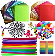 590PCS Pipe Cleaner Craft Set , LEHSGY Pipe Cleaners Chenille Stem and Pompoms with Googly Wiggle Eyes and Cra