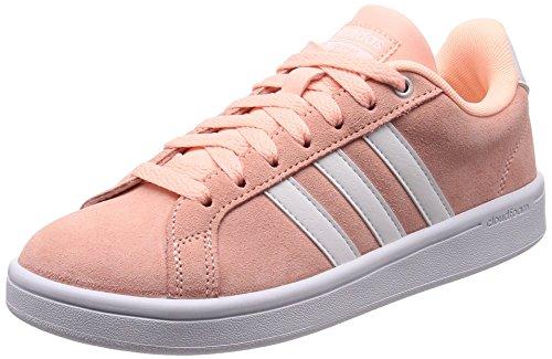 Damen-sommer-tennis-schuhe (adidas Damen Cloudfoam Advantage Fitnessschuhe, Rot (Haze Coral S17/Ftwr White/Matte Silver Haze Coral S17/Ftwr White/Matte Silver), 39 1/3 EU)