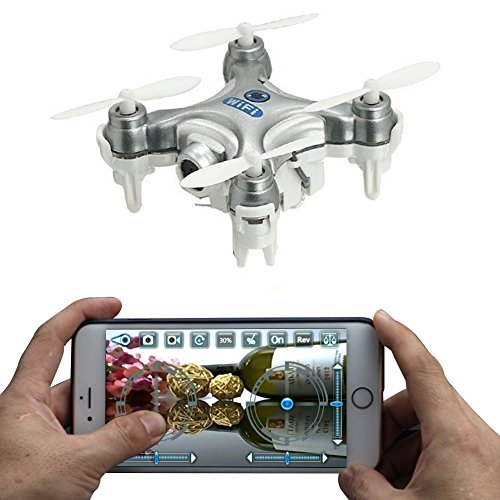 AICase Cheerson CX-10W 4CH 2.4GHz iOS / Android APP Wifi à distance RC Contrôle FPV Temps réel Vidéo Mini Quadcopter Hélicoptère Drone OVNI avec 0.3MP caméra HD, 6 Axis Gyro