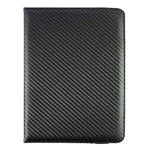 Emartbuy® 360 Degree Rotating Stand Folio Wallet Case Cover for Xiaomi Mi Pad 2 (Size 7-8 inch 360_Black Carbon)