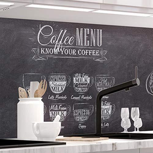 StickerProfis Küchenrückwand selbstklebend Pro Bistro MENU 60 x 280cm DIY - Do It Yourself PVC Spritzschutz