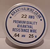Alambre de resistencia tipo 1, calibre 22, 0,64 mm, 25 metros, 4,26 ohms/m