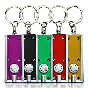 10 x HC-Handel 910438 Schlüsselanhänger Mini Taschenlampe 6 cm verschiedene Farben
