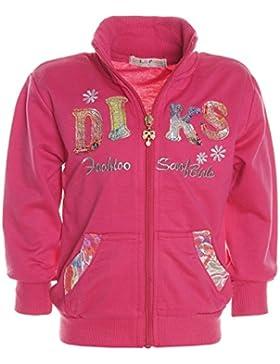 Kinder Mädchen Hoodie Pullover Jacke Stehkragen Sweatshirt Sweatjacke 21239