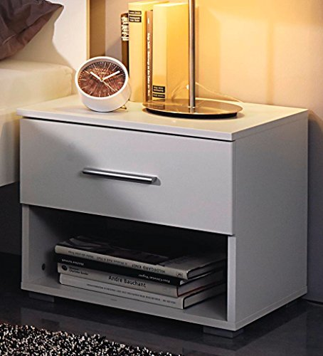 Rauch Nachtkonsole mit 1 Schubkasten alpinweiß Nachttisch
