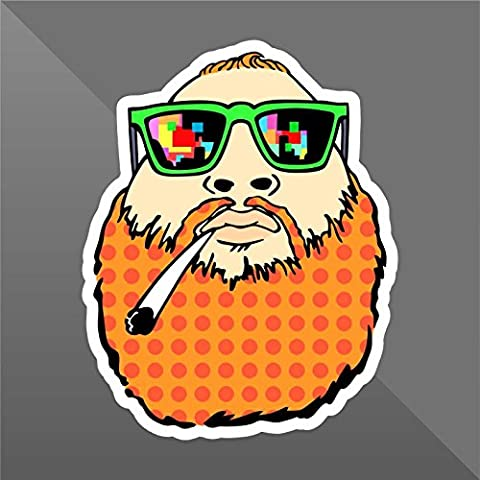 Sticker Fattone Weed Guy Junkie Doped Funny Marijuana - Decal Cars Motorcycles Helmet Wall Camper Bike Adesivo Adhesive Autocollant Pegatina Aufkleber - cm 15 - Funny Car Decal Sticker