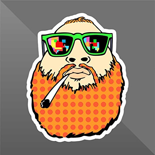 Sticker Fattone Weed Guy Junkie Doped Funny Marijuana - Decal Cars Motorcycles Helmet Wall Camper Bike Adesivo Adhesive Autocollant Pegatina Aufkleber - cm 10 - Funny Car Decal Sticker