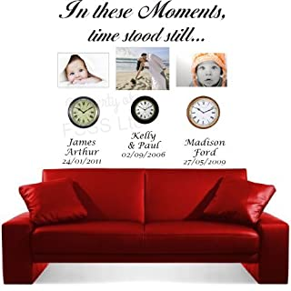 IN THESE MOMENTS TIME STOOD STILL DB WALL ART MARRIED FAMILY CHILDREN STICKER (150cm)