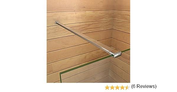 Barra Stabilizzatrice Tagliabile Per Box Doccia Parete Fissa Da Bagno In Alluminio Cromato Lucido 90cm adatta Per Vetro 6//8mm Spessore