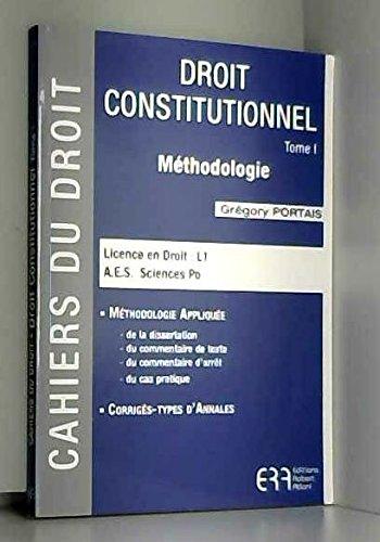 Cahiers du droit - droit constitutionnel - Mthodologie