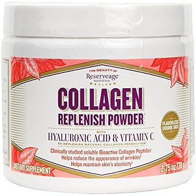 ReserveAge Organics, Collagen Replenish w/Hyaluronic Acid&VitaminC,2.75oz