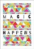 Posterlounge Stampa su Legno 30 x 40 cm: Magic Happens di Susan Claire/MGL Licensing