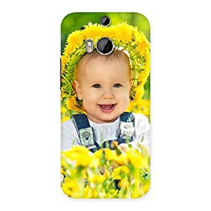 Laughing Baby Girl Back Case Cover for HTC One M8