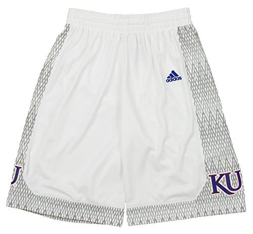 adidas NCAA Herren Kansas Jayhawks Bball Shorts, Herren, Weiß, Large