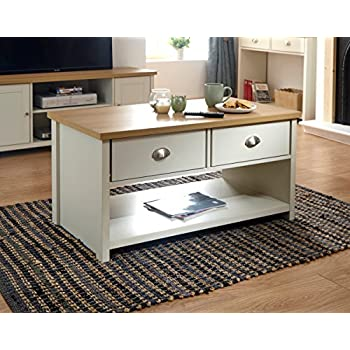 59a691c378 GFW - The Furniture Warehouse Lancaster Grey & Oak Coloured Occasional  Range - Tables Sideboard Tv Cabinets#Coffee Table Cream