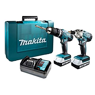 Makita DK18015X1 Combo Kit-Multicolour, 18 V (Set of 2 Piece)