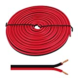 Lautsprecherkabel 5m - 2x2,5mm² - 100% CCA Kupfer ; Audiokabel - rot/schwarz