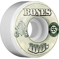 Bones Wheels 100's OG # 16100A Rollo, Unisex Adulto, 134055, Blanco, 52 mm