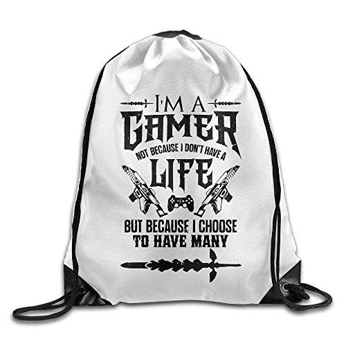 Caps big I'm A Gamer Not Because I Don't have A Life Printed Drawstring Bag