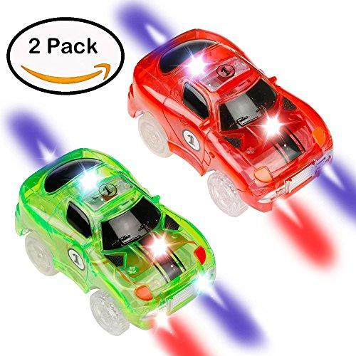 2 Auto a Bagliore a LED Possono Brillare di Notte Compatibili con Altre Auto di Marche (2 Cars)