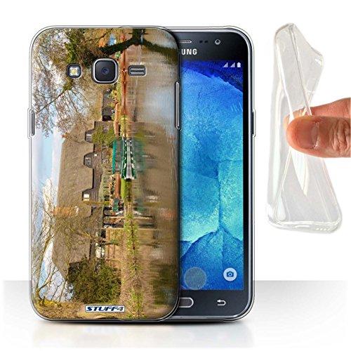 Stuff4 Gel TPU Hülle / Case für Samsung Galaxy J5/J500 / Hütte Muster / Britischen Küste Kollektion