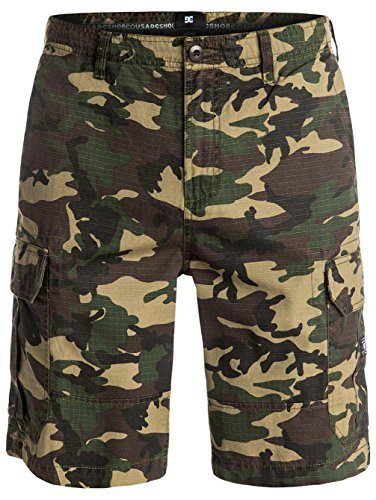 DC Shoes - Edyws03054, Bermuda Cargo Da Uomo Uomo Green Surplus Camo