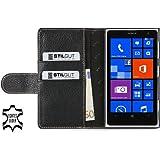 """StilGut Ledertasche """"Talis"""" für Nokia Lumia 1020 mit Fach für Kredit- oder Visitenkarten, Schwarz"""