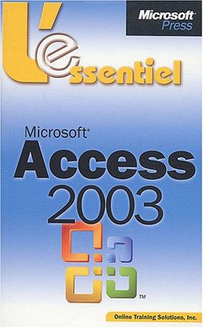 Microsoft access 2003 par Véronique Warion, Emmanuelle Burr