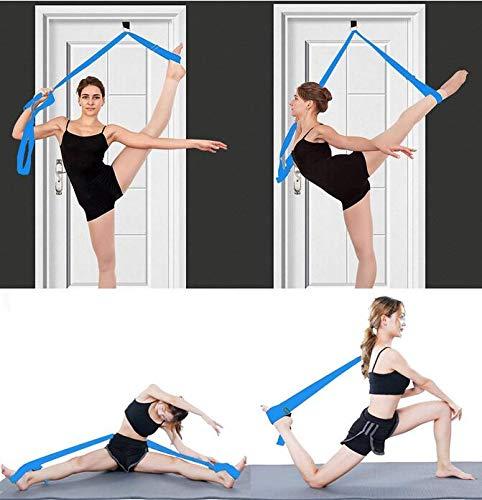 Super Stretch Band (EEvER Wohnkultur Ideales Geschenk Mädchen Türbeine Bahre, Stretching Übung Trainingsbänder Ideal für Ballett Verlängern Ballett Stretch Band Super Flexible Bein Bahre Strap -Lake Blue)