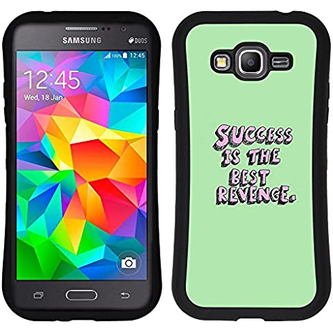 SAMSUNG GALAXY GRAND PRIME Hybrid Case Handyhülle - Revenge Minimalist Fully Message